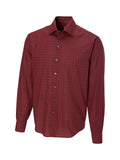 Cutter & Buck 100% Cotton L/S Tri City Check Sport