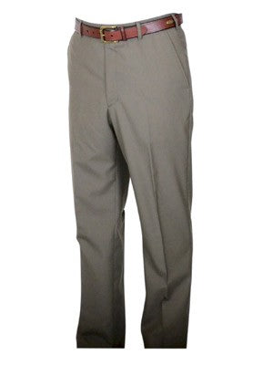 Berle Wool Blend Self Sizing Dress Pants - Short Man Sizes - LIGHT OLIVE