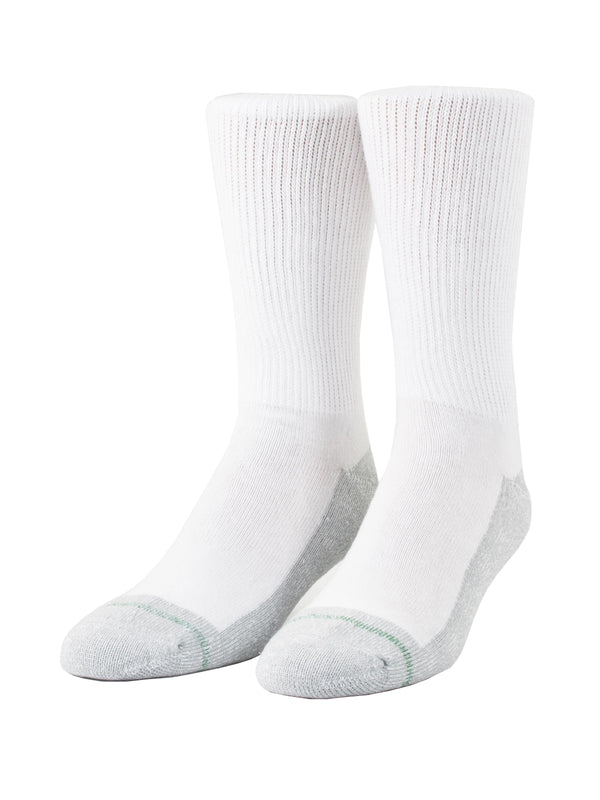 Loose Fit Stays Up Crew Athletic Socks in White - Medium (Size 8.5 - 11.5) - 780