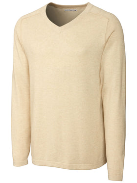 Cutter & Buck 100% Cotton Anoti Bay V-Neck Sweater