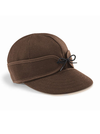 Origional Stormy Kromer Caps With Ear Band in Dark Brown - 50010-DBR