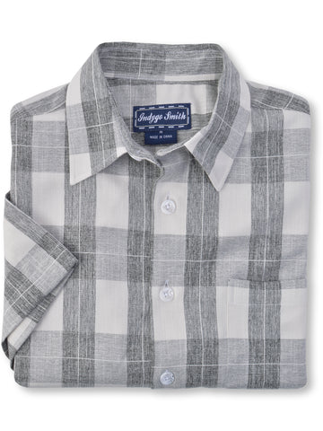 Indygo Smith Cotton Blend Stretch Check Shirts in