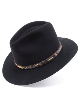Stetson Fur & Wool Felt 'Jackson' Hat in BLACK