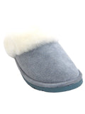 Old Friend's Ladies' Scuff Slippers in Light Blue