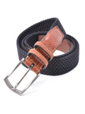 Torino Cotton Elastic Men's Belts in Black - Regul