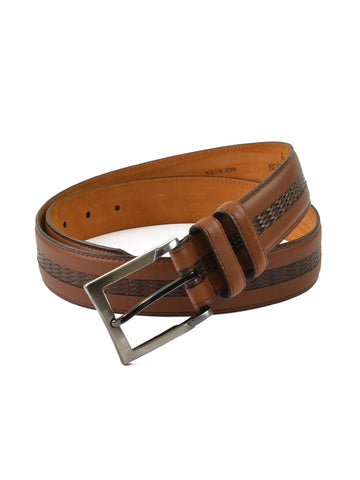 Lejon Genuine Italian Leather Bayside Belts in Tan