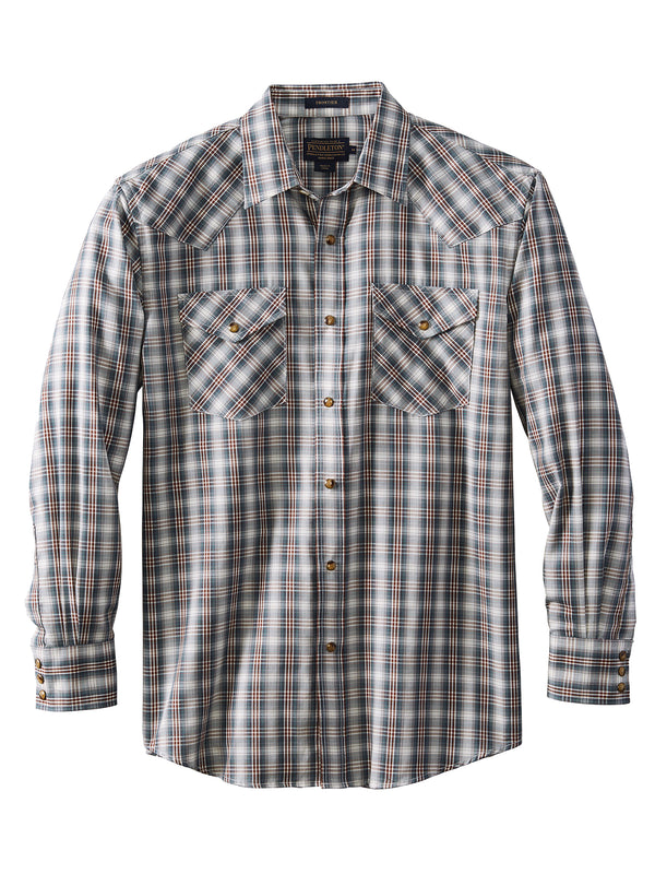 Pendleton Long Sleeve Cotton Blend Frontier Herringbone Shirts DA455-65422