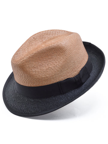 Stetson Straw Staycation Two-Tone Fedora