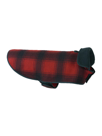 Stormy Kromer Fleece Dog Jacket in Red/Black Plaid