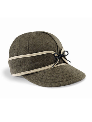Origional Stormy Kromer Caps With Ear Band in Olive - 50010-OLV