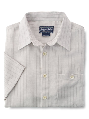 Indygo Smith Polyester Blend Sport Shirts in Tan -
