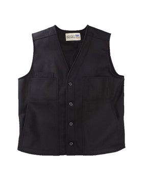 Stormy Kromer 100% Wool Button Vest in Black - Tall Sizes