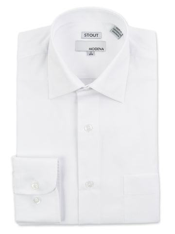 Modena Stout Men's Dress Shirts in White - M300XFB