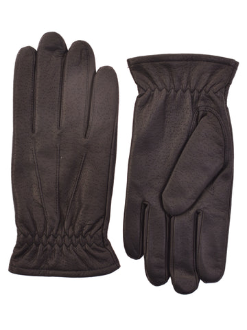 Lauer Men's Deerskin Leather Gloves in Brown - 143