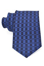 Damon 100% Silk Pindot Tonal Tie in Navy