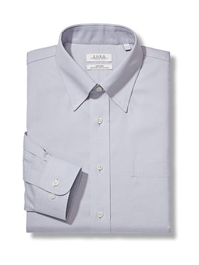 Enro Non-Iron Solid Pinpoint Dress Shirts 162321 -