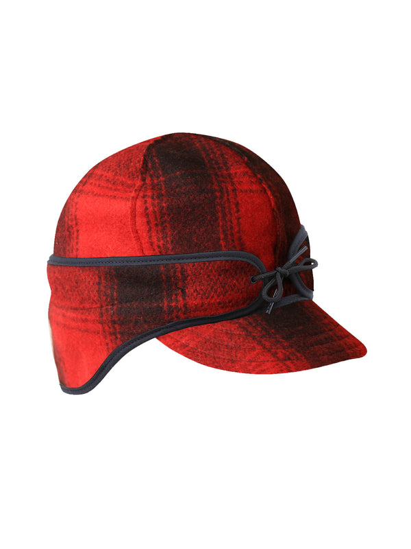 Stormy Kromer Rancher Caps With Ear Band in Black / Red Plaid - 50500-BRD