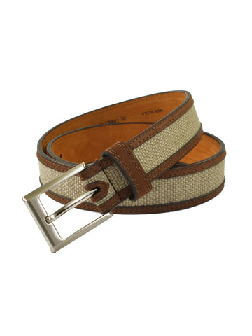 Lejon Oil Tanned Nu-Buck Back Nine Belts in Wheat