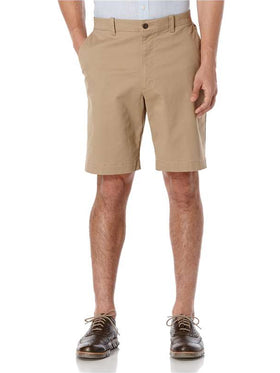 Savane Fine Line Stretch Short in Khaki - SW-BS7-0