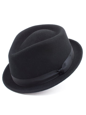 Dobb's Wool Felt 'Shorty' Hat in Black