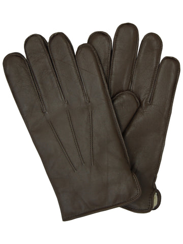 Lauer Men's Goatskin Leather Gloves in Brown - 187