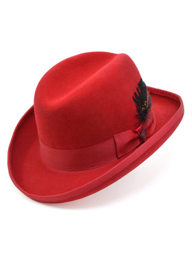 Dobbs 100% Wool Felt Fleetwood Hats in Red