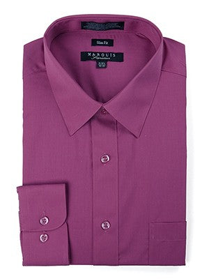Marquis Men's Cotton Blend Slim Fit Dress Shirts -
