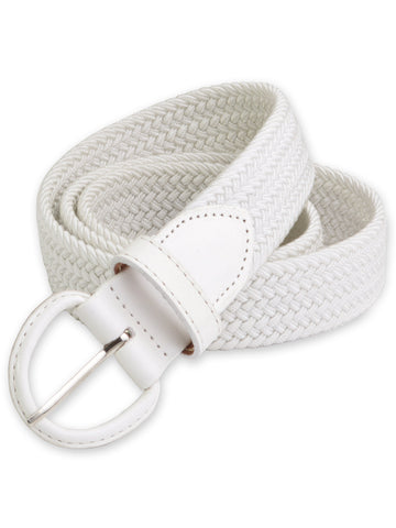 Florsheim Stretch Casual Belt in White 5-2084