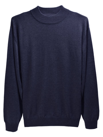 F/X Fusion Long Sleeve Mock Neck Shirts in Navy -