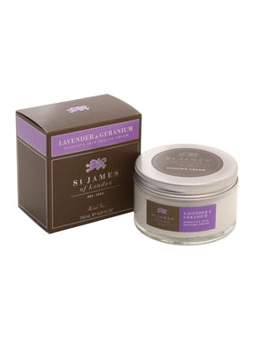 St James of London Lavender and Geranium Shave Cre