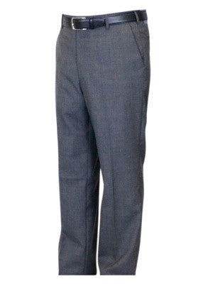 Berle Wool Blend Self Sizing Dress Pants - Short Man Sizes - MEDIUM GREY