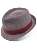 Henschel Viscose Braid Fedora Hat in Burgundy