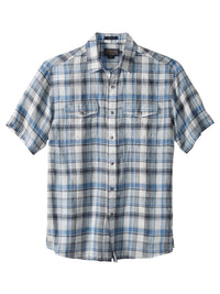 Pendleton 100% Linen Malone Sport Shirts in Grey/Sky - RA257-65489