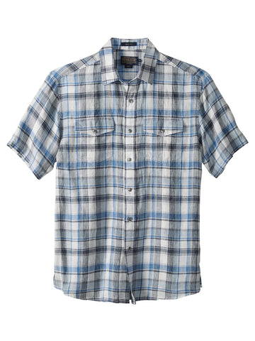 Pendleton 100% Linen Malone Sport Shirts in Grey/S