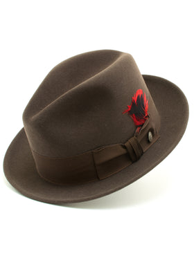 Stetson 100% Pure Wool Felt Frederick Hats in Mink