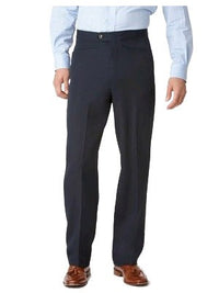 Ascott Browne 100% Polyester Beltless Western Front Pants in Navy - Short Man Sizes