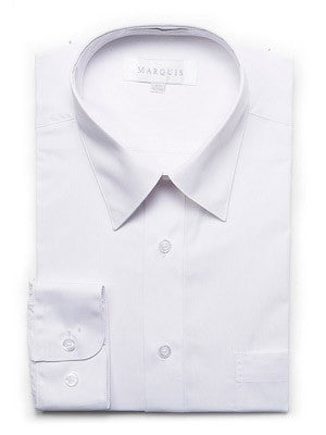 Marquis Men's Cotton Blend Dress Shirts - Tall Man Sizes - WHITE