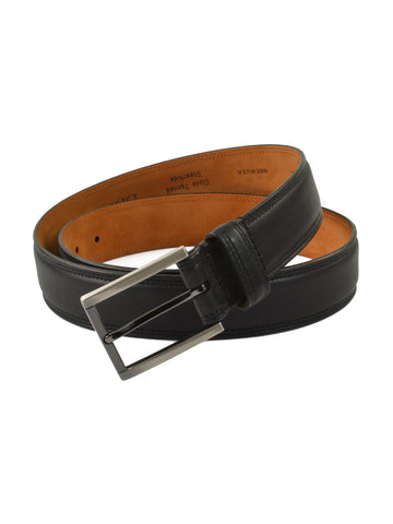 Lejon Glove Tanned Leather Dignitary Belts in Blac