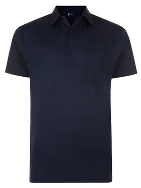 Gabicci Short Sleeve Cotton Blend Polo in Navy - G