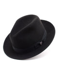 Dobbs 100% Wool Felt 'Fox' Hat in Black