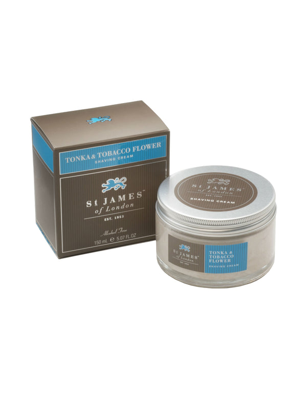 St James of London Tonka and Tobacco Flower Shave Cream