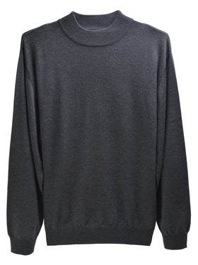 F/X Fusion Long Sleeve Mock Neck Shirts in Charcoa