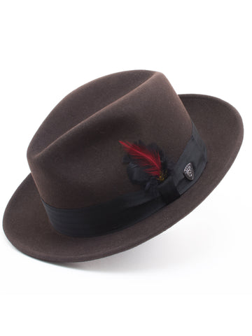 Dobbs 100% Wool Felt Glen Cove Hats in Cordovan