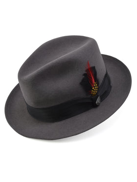 Dobbs 100% Wool Felt Glen Cove Hats in Steel