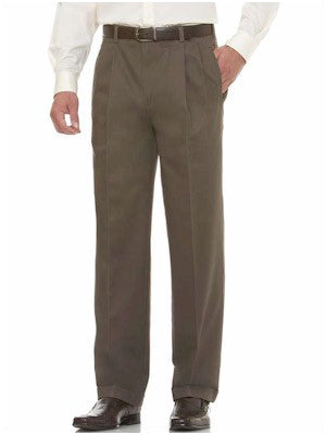 Savane Deep Dye Pleated Front Cotton Pants in Birc