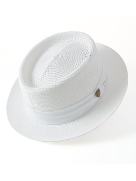 Dobbs Vented Milan Straw Bishop Hats