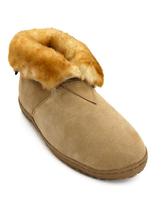 Old Friend Men's Sheepskin Bootee Slippers - Big Man Sizes