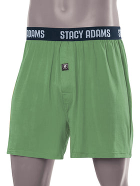 Stacy Adams Comfortblend Boxer Shorts in Green - R