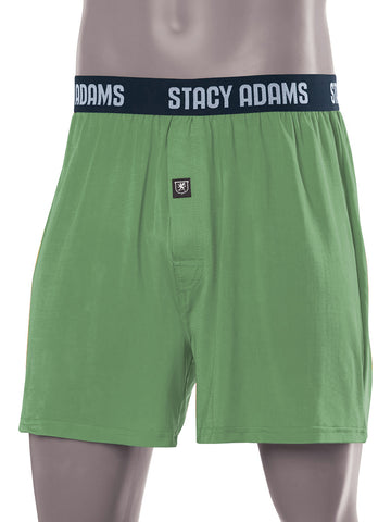 Stacy Adams Comfortblend Boxer Shorts in Green - B