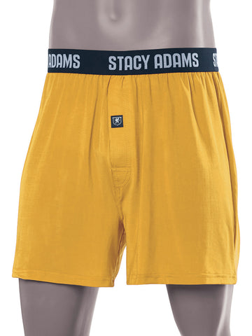 Stacy Adams Comfortblend Boxer Shorts in Mustard -